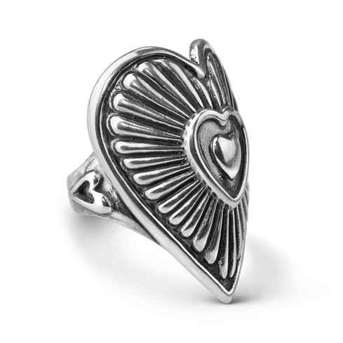 Sterling Silver Bold Heart Ring