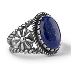 Sterling Silver Blue Lapis Bold Oval Ring
