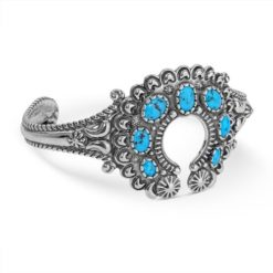 Sterling Silver Turquoise Naja Cuff Bracelet