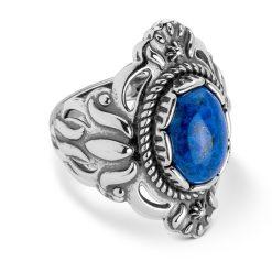 Sterling Silver Denim Lapis Gemstone Ring