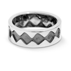 Sterling Silver Zig-Zag Band Ring
