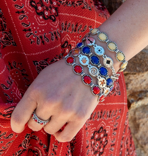 Double sided stackable bracelet